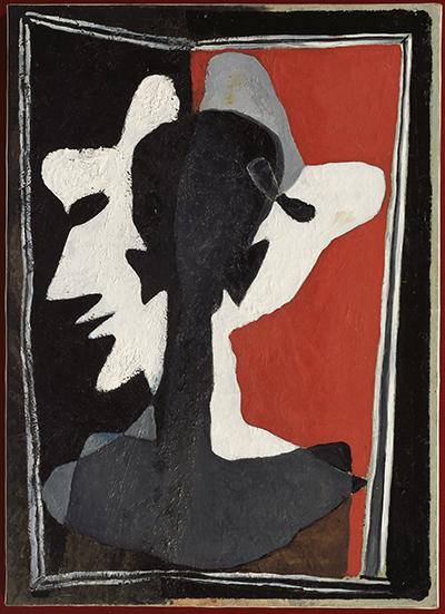 Dali's Self-Portrait Splitting into Three