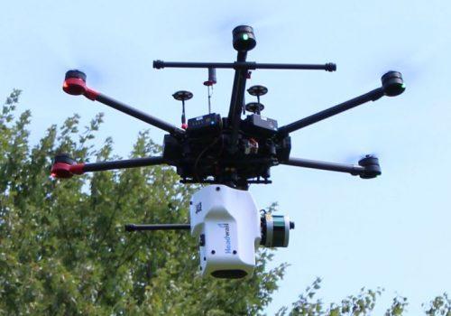 combined VNIR + SWIR + LiDAR sensor on a DJI drone